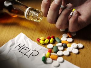 image showing a person needing help for addiction